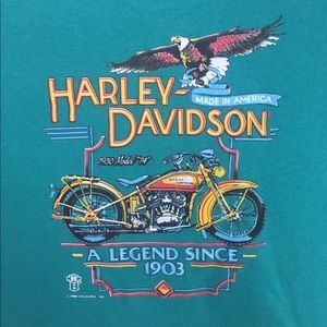 Harley-Davidson Shirts - Vintage 1988 Harley Davidson 1930 model 74 Shirt